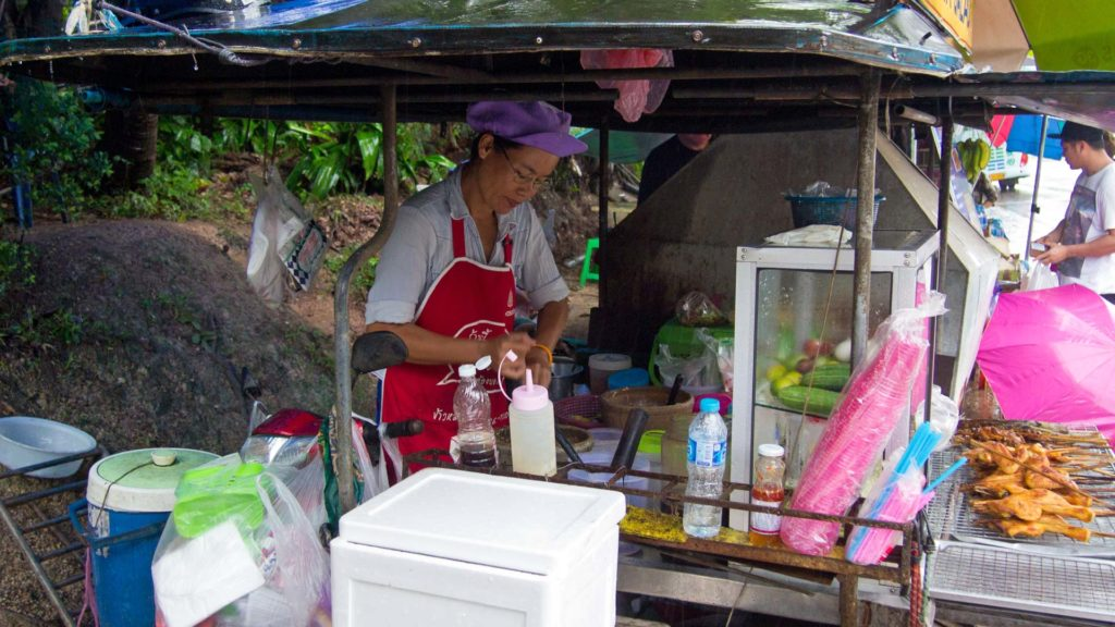 Isaan Food Stand in Ao Nang, Krabi