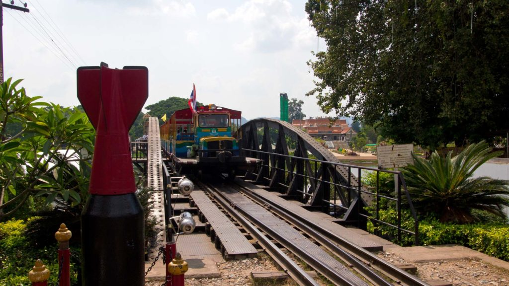 A train on the River Kwai Bridge, Kanchanaburi