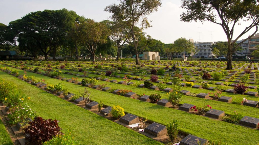 Cemetery for the fallen prisoners during World War II, Kanchanaburi