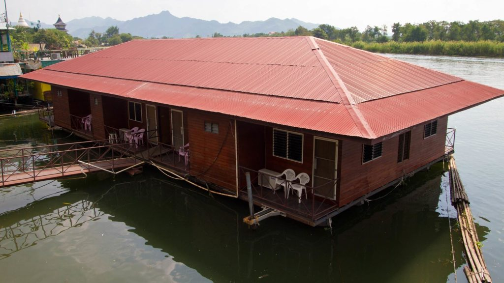 Floating house in Kanchanaburi