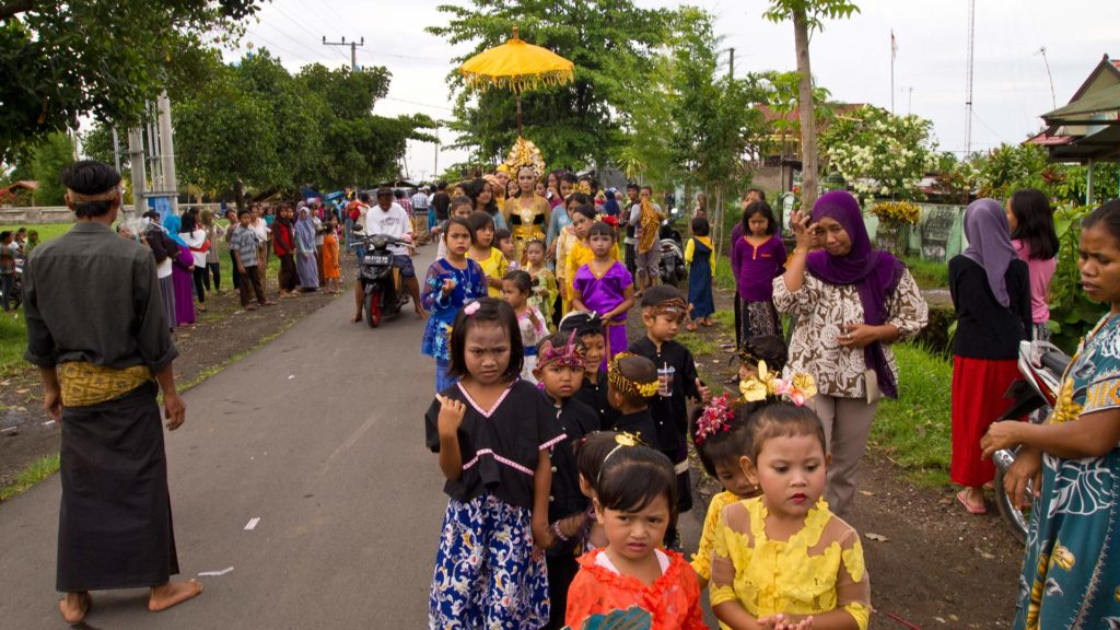 Traditional Sasak wedding in the north of Lombok