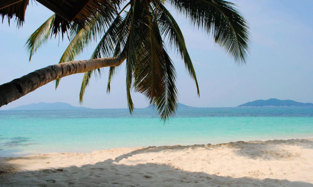 Dream beach on the island Rawa in Malaysia