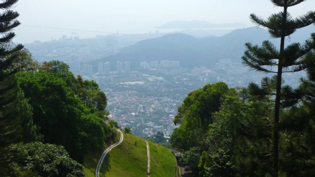 Aussicht auf Penang vom Penang Hill