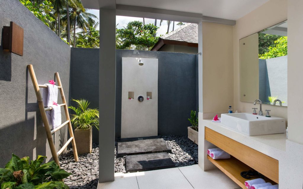 Bathroom of a Garden View Villa at The Chandi