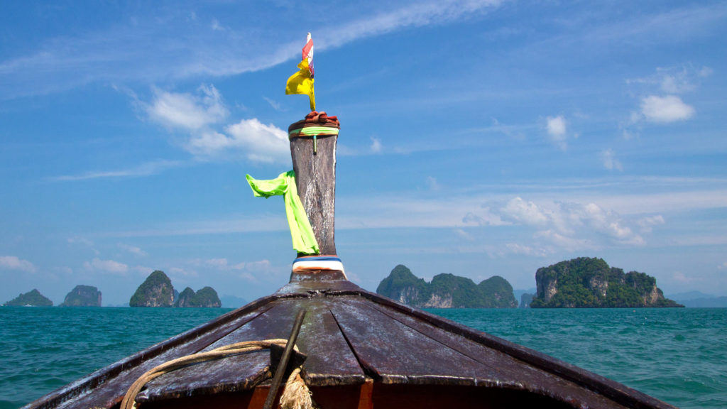From Ao Nang to Hong Island with the longtail boat