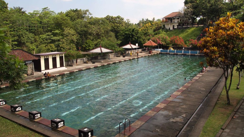 The swimming pool of the Narmada Park
