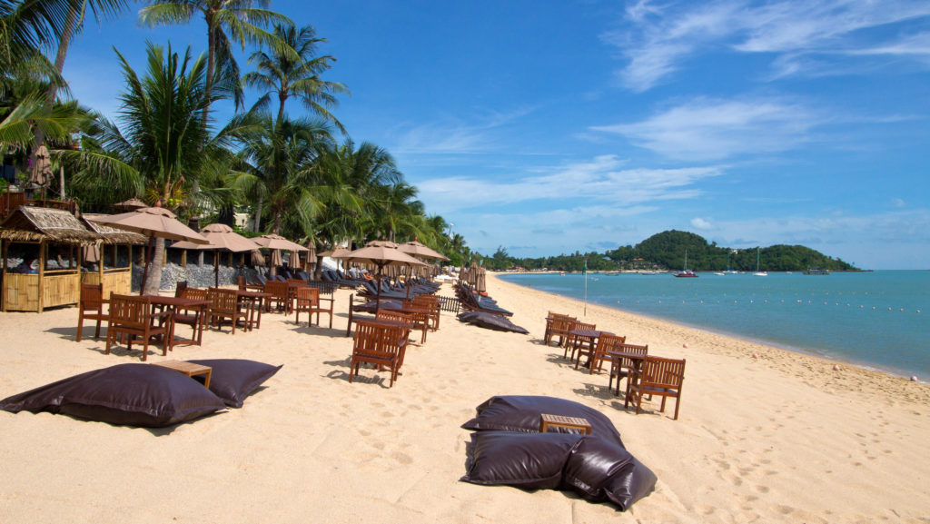 Bophut Beach directly at the Anantara Bophut Resort & Spa, Koh Samui