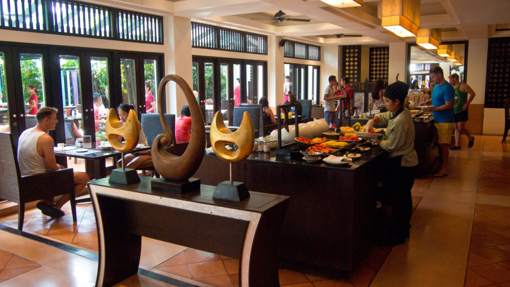 Breakfast buffet at the Anantara Bophut Resort & Spa, Koh Samui