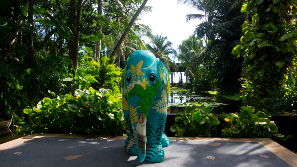 Elephant in the garden of the Anantara Bophut Resort & Spa, Koh Samui