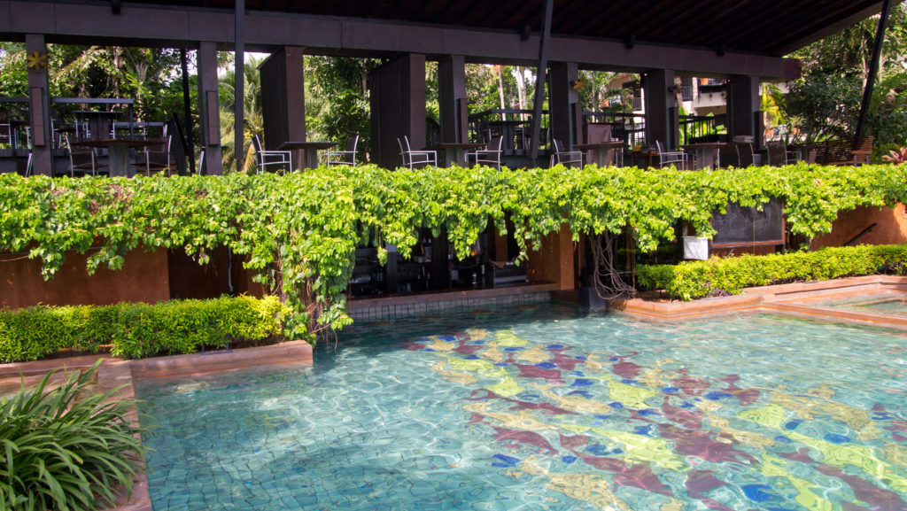 The pool bar inside the swimming pool of the Anantara Bophut Resort & Spa, Koh Samui