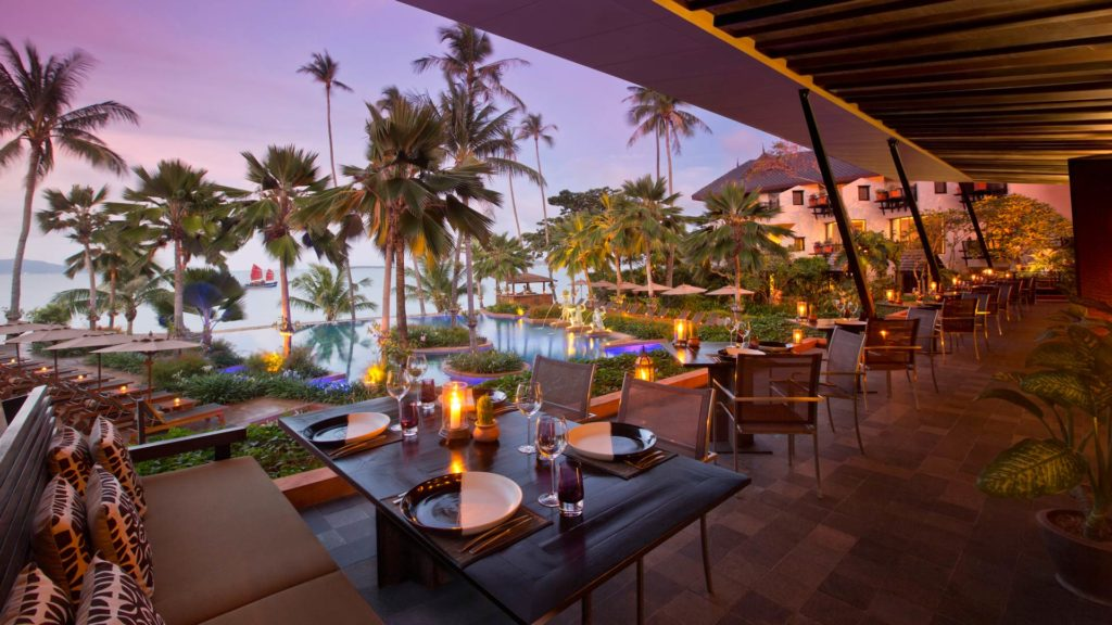 Das Full Moon Restaurant im Anantara Bophut Resort & Spa, Koh Samui