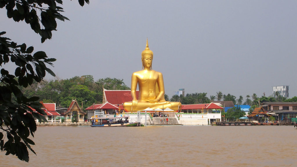 The Wat Bang Chak seen from Koh Kret, Nonthaburi, Bangkok