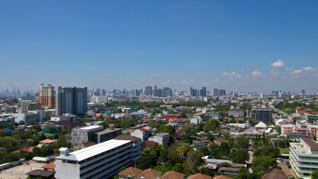 The view at Bangkok from the Wat Dhammamongkol