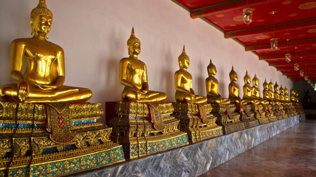 The famous Wat Pho in Bangkok