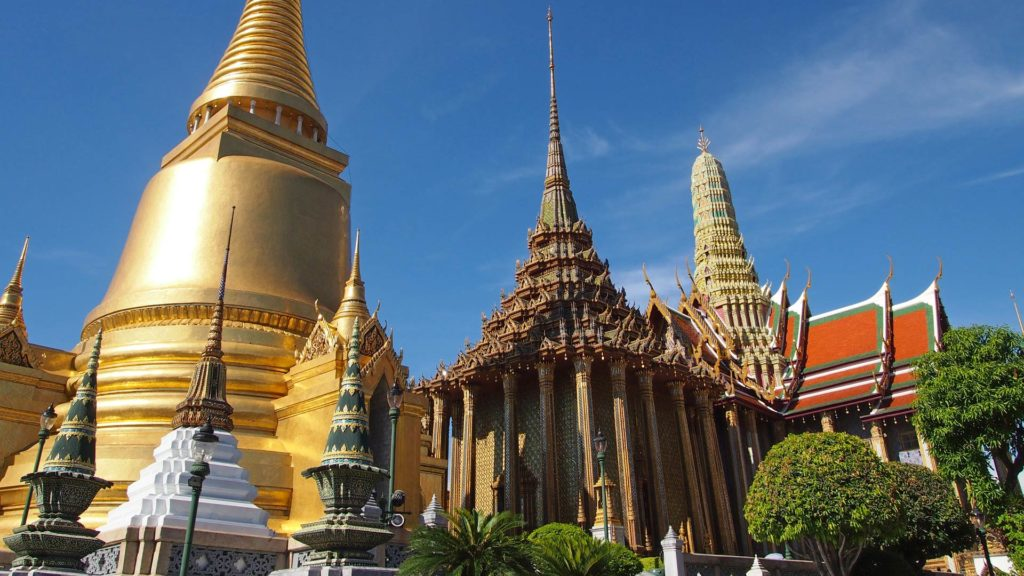The Wat Phra Kaeo in the Grand Palace of Bangkok