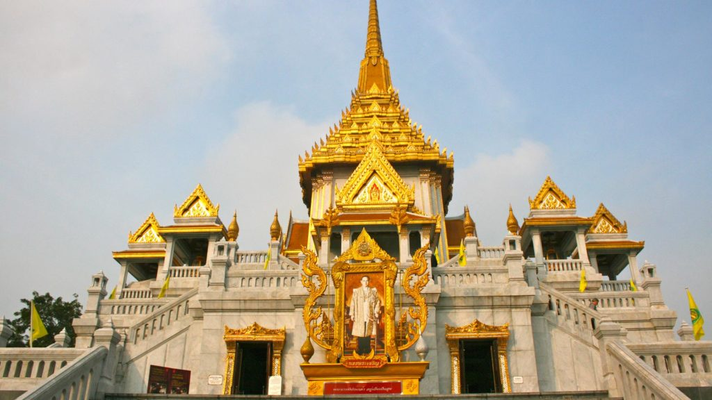 The Wat Traimit near the Hua Lamphong train station in Bangkok