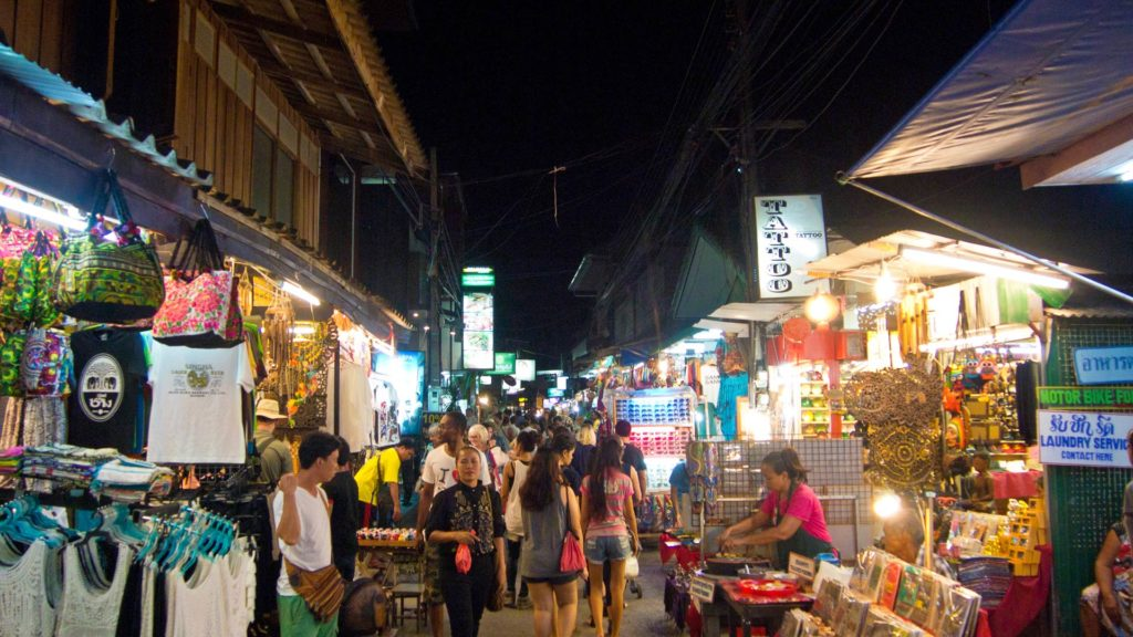 Die Walking Street am Freitag im Fisherman's Village, Bophut, Koh Samui