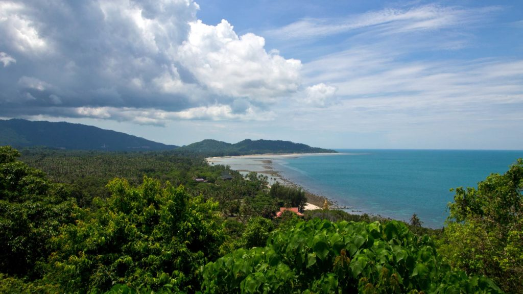 View from the Wat Rattanakosin on Koh Samui