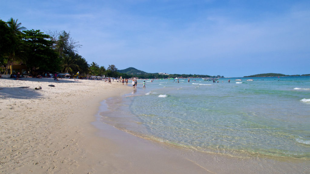 The popular Chaweng Beach at Koh Samui's east coast