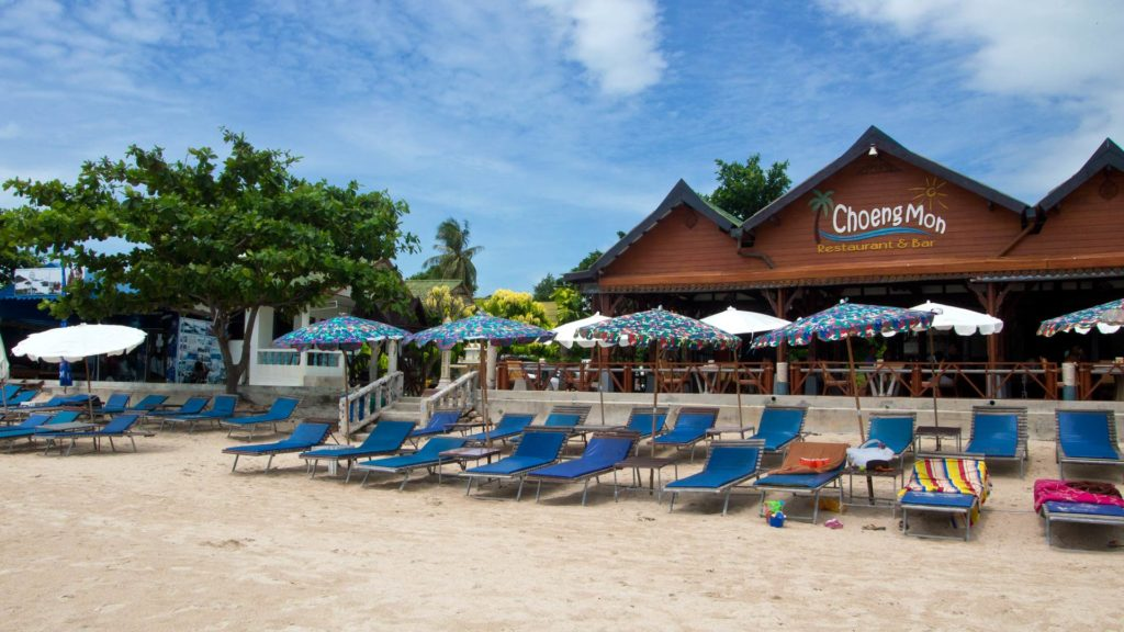 The Choeng Mon Beach in the north of Koh Samui