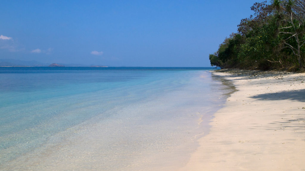 Secluded dream beach on Gili Nanggu