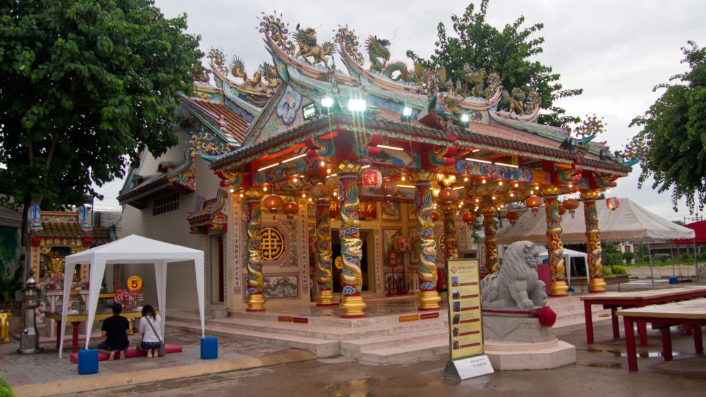 Der Sanjao Phuya Chinese Temple am Nong Bua Lake, Udon Thani