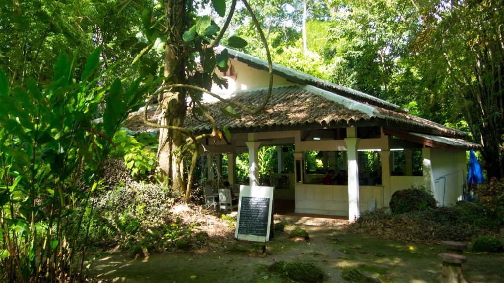 Restaurant in the jungle of the Kuang Si Waterfall