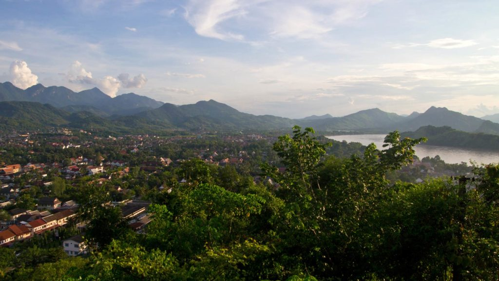 The view at Luang Prabang and the Mekong from the Mount Phou Si, Laos