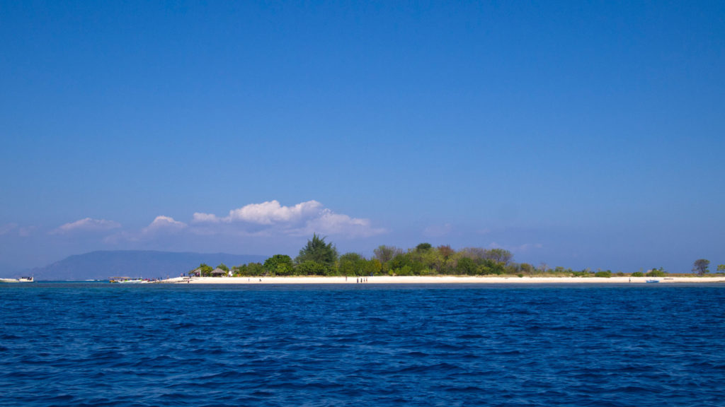 View from the boat at Gili Kondo, Lombok