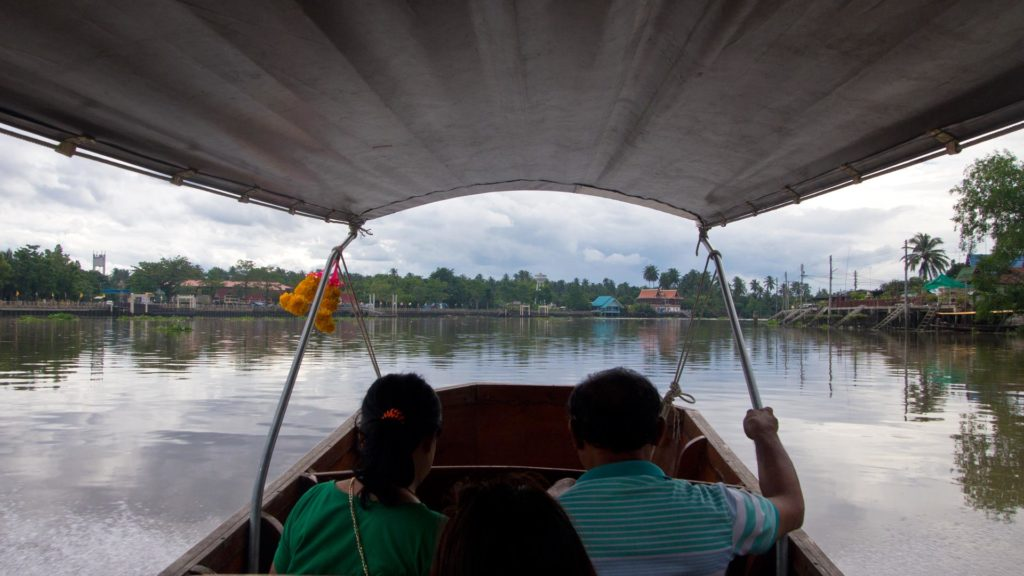 A boat tour from the Amphawa Floating Market, Samut Songkhram