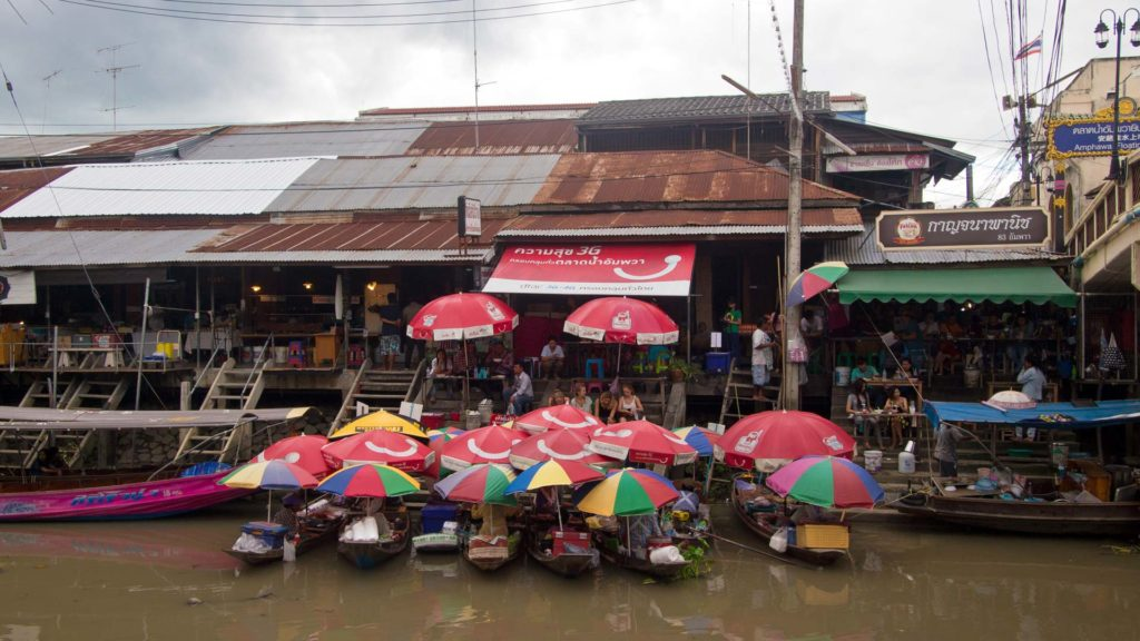 View at the Amphawa Floating Market