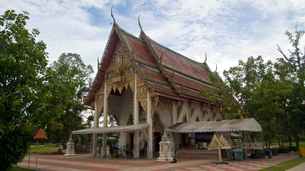 One of the many temples at a boat tour in Amphawa, Samut Songkhram