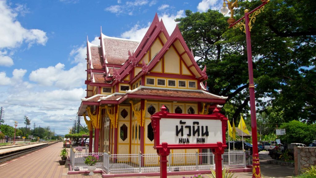 The famous railway station of Hua Hin with the royal pavilion