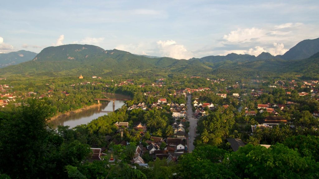 The view from the Mount Phou Si at Luang Prabang, Laos