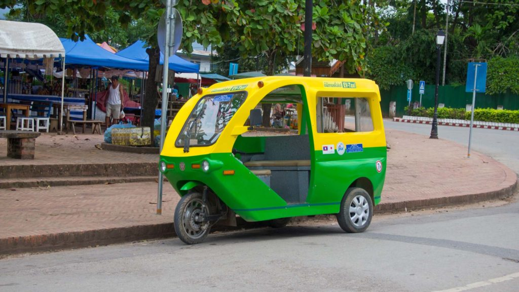 One of the electric cars in Luang Prabang, Laos