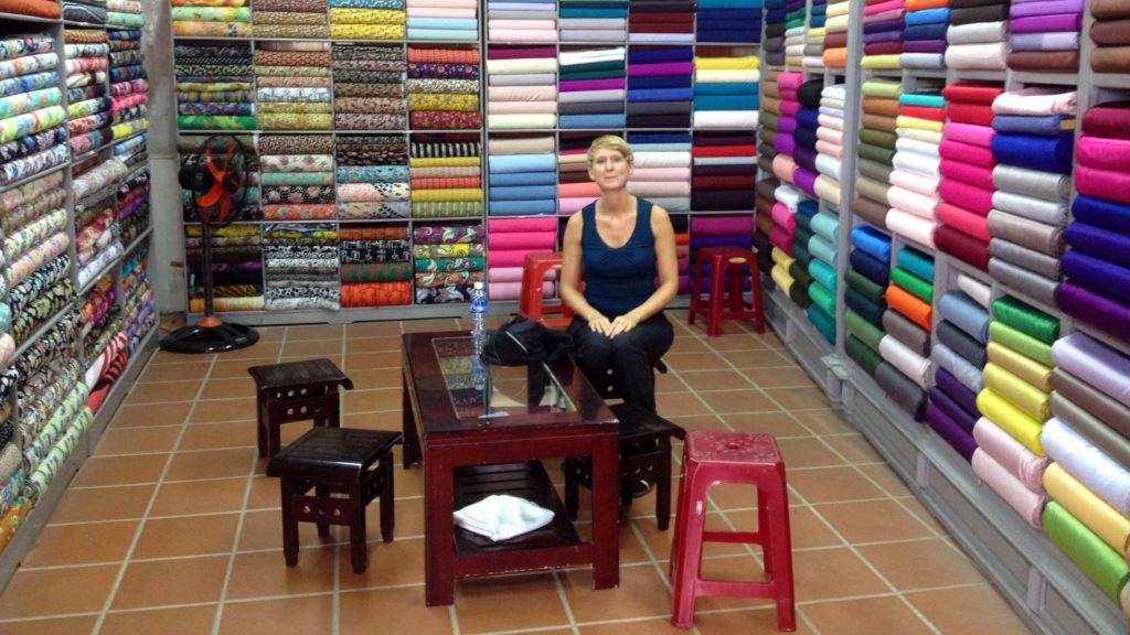 A tailor named Yaly in Hoi An, Vietnam