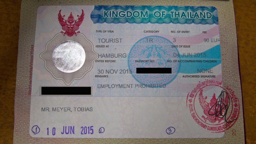 Touristenvisum Thailand