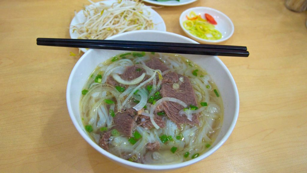 Pho Bo, Vietnamese noodle soup with beef