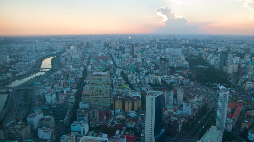 View from the Saigon Skydeck at the city, Ho Chi Minh City