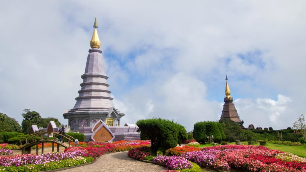 The two royal pagodas on Doi Inthanon, Thailand