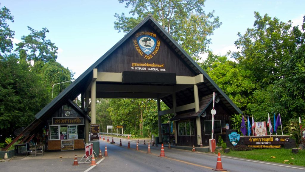 The entrance of Doi Inthanon National Park near Chiang Mai