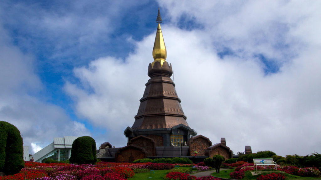 The Naphamethanidon Pagoda in Doi Inthanon National Park