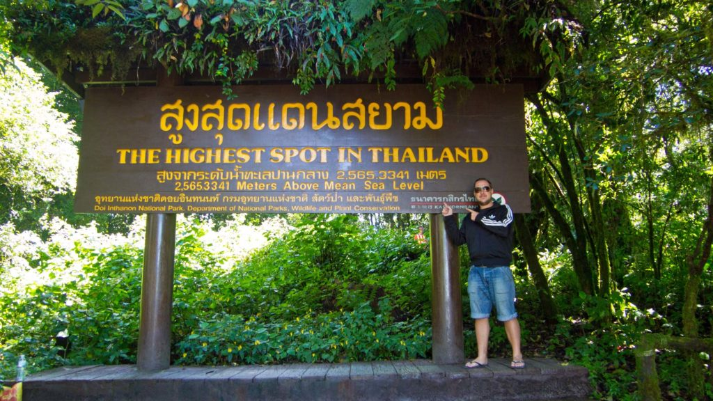 Tobi on the highest point in Thailand, Doi Inthanon