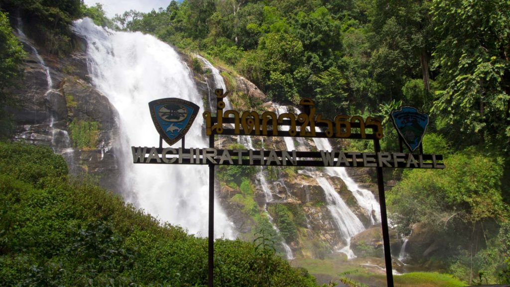 The Wachirathan Waterfall in Doi Inthanon National Park