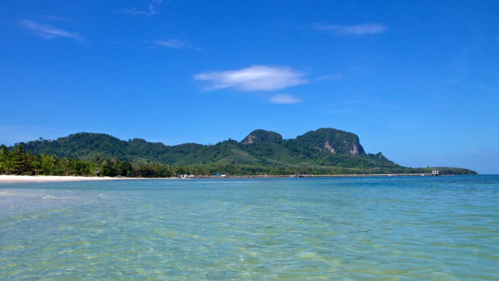 View from the Sivalai Beach at Koh Mook, Trang