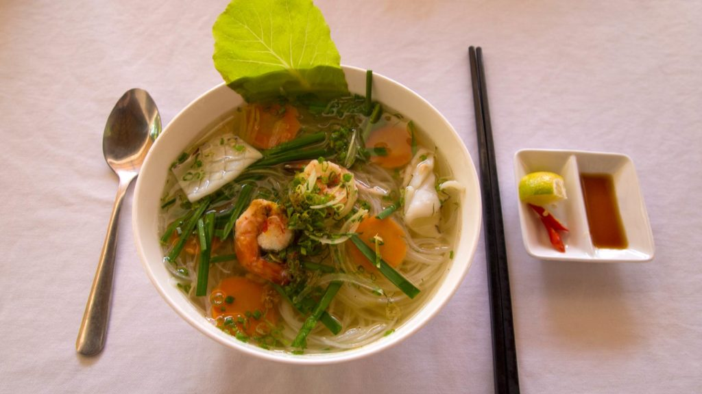 Vietnamese seafood soup in te Castaways Resort, Phu Quoc