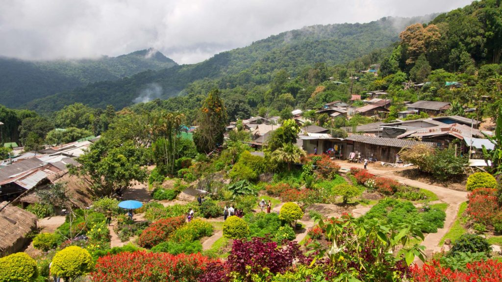 View of the Hmong Village on Doi Pui