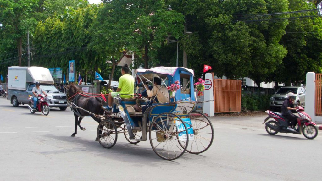 Horse-drawn carriage in Lampang