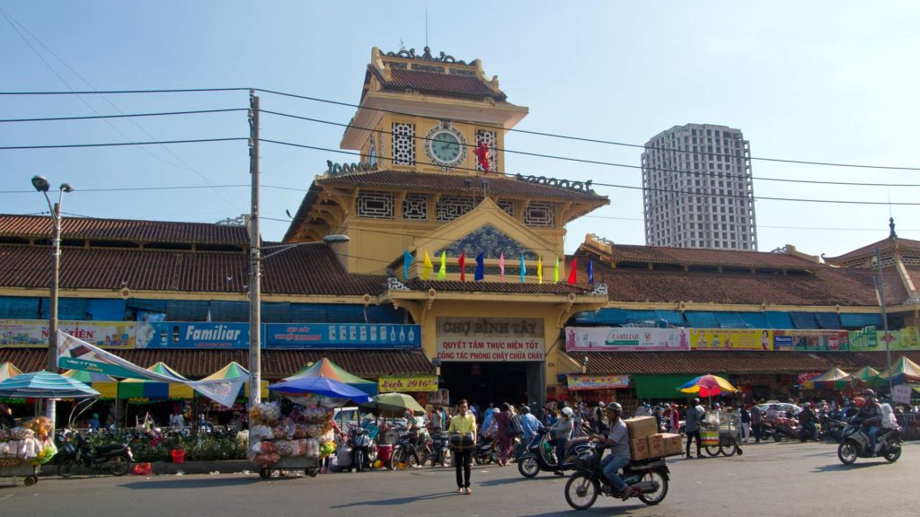 The Binh Tay Market in Ho Chi Minh City, Vietnam