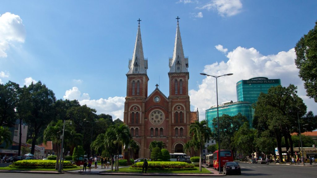 The Notre-Dame Cathedral of Ho Chi Minh City, Vietnam